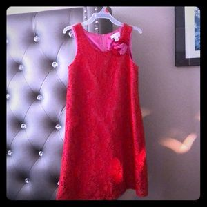Beautiful red dress for a little girl..